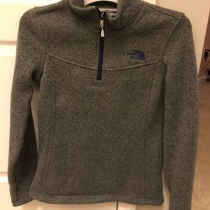 North Face 1/3 zip up